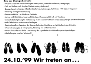 Programm der Ökologischen Liste aus dem Jahr 1999