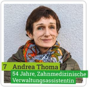 Portrait von Andrea Thoma, 54 Jahre, Zahnmedizinische Verwaltungsassistentin
