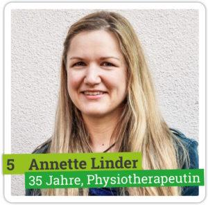 Portrait von Annette Linder, 35 Jahre, Physiotherapeutin
