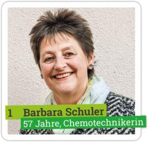 Portrait von Barbara Schuler, 57 Jahre, Chemotechnikerin