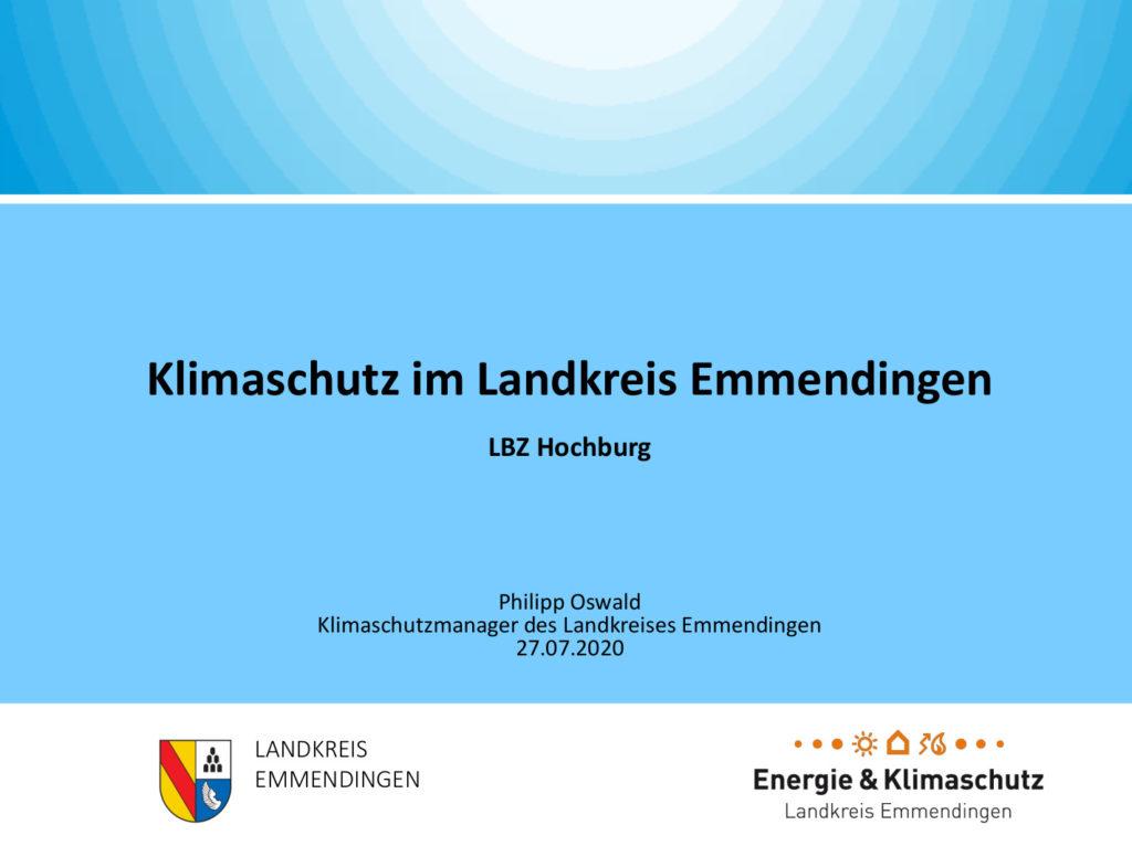 Präsentation: Klimaschutz im Landkreis Emmendingen