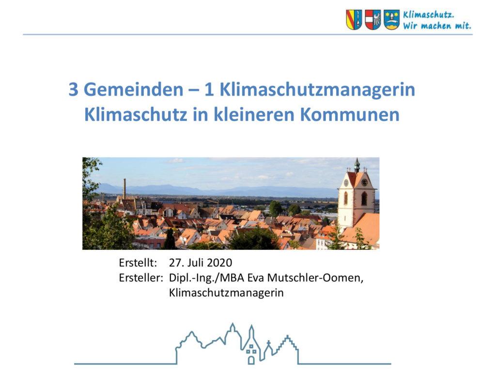 Präsentation: Klimaschutz in kleineren Kommunen